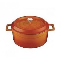 Image of Lava Cast Iron Casserole Round 240mm Orange