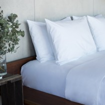 Sheet King Bed Alliance Percale White Fitted 182 x 203 + 32cm