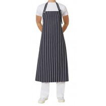 APRON BIB NAVY/WHITE STRIPE W/BUCKLE 86 X 100CM