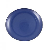 Artistica Oval Plate 250 x 220mm Reactive Blue 4/Pkt (3)