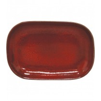 Artistica Rectangular Coupe Plate Reactive Red