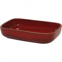 Image of Artistica Rectangular Dish Reactive Red 170 x 105 x 40mm