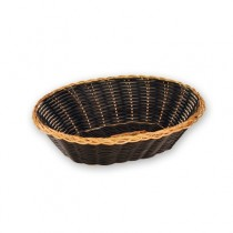 Basket Bread Oval 230mm Black/Gold