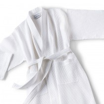Bath Robe Waffle Poly/Cotton W/Shawl Collar