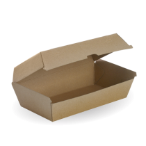 Biopak BB-SNACK BOX LARGE Takeaway Snack Box Large Kraft (200)