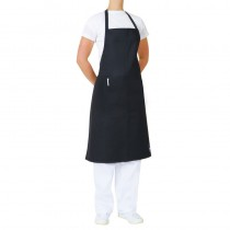 Apron Bib Black With Pocket