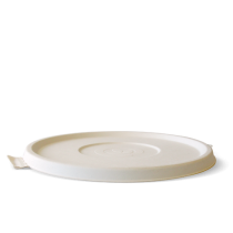 Biopak B-BLL-W BioCane Lid Only To Suit 24.32 &40oz Bowls White (400)
