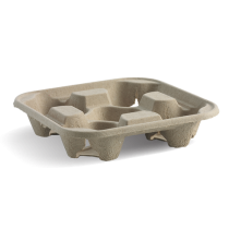 Biopak B-CC-832 4 Cup Tray Natural (300)