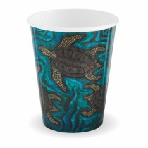 Biopak BC-12DW-CCAB Hot Paper BioCup 12oz Double Wall Indigenous Series