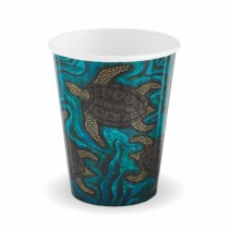 Biopak BC-8DW-CCAB Hot Paper BioCup 8oz Double Wall Indigenous Series