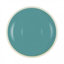 BREW SAUCER TEAL/WHITE 140MM/57MM SUITS 25286