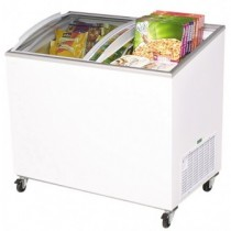 Bromic CF0300ATCG Chest Freezer Curved Glass Top 264ltr