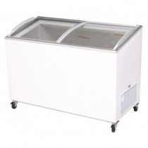 Bromic CF0300ATCG Chest Freezer Curved Glass Top 352ltr