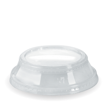 Biopak C-96D(N) Dome Lid With No Hole Clear To Suit 300-700ml Cups (1000)