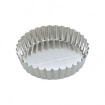 Cake Pan Loose Base Round Fluted 230 x 45mm (10)