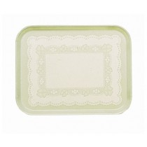 Cambro 1418-241 Camtray Rectangle A/Parchment W/Doyley (12)
