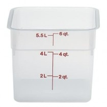 Cambro 6SFSPP Camwear Containers 5.7L Polypropylene Translucent (6)