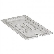 Image of Cambro Food Pan Cover Notched With Handle Clear 1/3 Size (6)