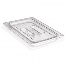 Image of Cambro Food Pan Cover With Handle Clear 1/4 Size (6)