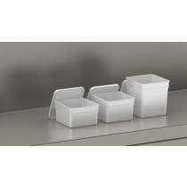Camplastic Container With Lid 186 x 186 x 110mm 2.5ltr White