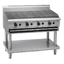 Image of Waldorf 800 Series CH8120G-LS Chargrill 1200mm With Leg Stand *Nat Gas*