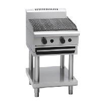 Image of Waldorf 800 Series CH8600G-LS Chargrill 600mm On Leg Stand *Nat Gas*