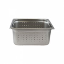 Chef Inox Steam Pan 1/2 Size 150mm Perforated