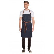 CHEF WORKS APRON BIB MEMPHIS INDIGO BLUE