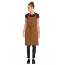 CHEF WORKS APRON BIB ROCKFORD NUTMEG