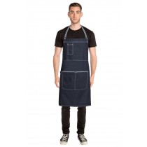 CHEF WORKS APRON CROSS BACK BRONX BLUE DENIM