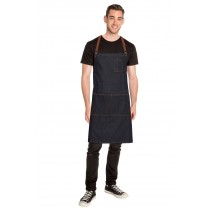 CHEF WORKS APRON CROSS BACK MEMPHIS BLACK DENIM