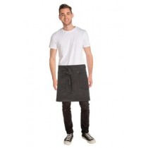 Chef Works Apron Half Pewter (1)