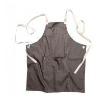 Chef Works Apron Cross Back Canvas Grey