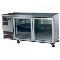 Skope Counterline CL400 Fridge Stainless Steel Integral 2 Glass Doors