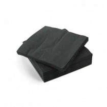 2ply Cocktail Napkin QTR Fold Black 2000/Ctn