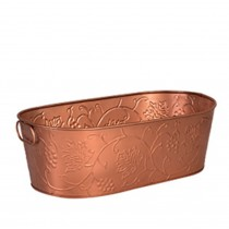 Beverage Tub Copper Satin Finish With Design
