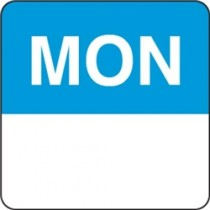 "Day Dots Square 75mm Removable ""Monday"" Blue (500)"