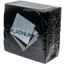 Caprice Platinum 3ply Dinner Napkin Black 50/Pkt