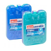 Decor Lunchbreak Icewall Small Assorted Colours 120 x 30 x 160mm 2/Pkt