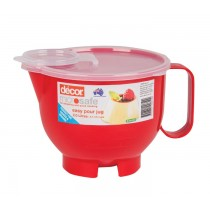 Decor Microwavable Jug W/Lid 2ltr