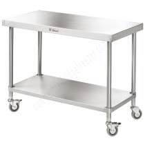 Simply Stainless 600 Series Mobile Work Bench - 1200mm x 600mm x 900mmH