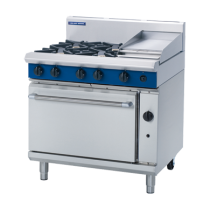 Blue Seal G506C Oven Range Static 4 Burner & Griddle 300mm