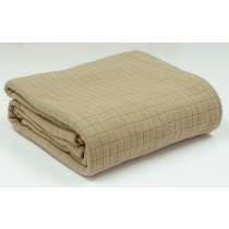 Blanket Single Bed Geo Fleece Sandalwood 180 x 245