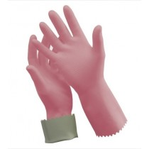Glove Rubber Silverlined Size 8 - 8.5 Pink (Pair)