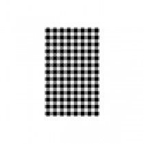 Grease Proof Paper Gingham Black Check 190 x 310mm 200/Pack