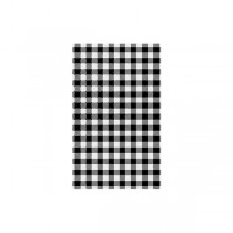 Grease Proof Paper Gingham Black Check 190 x 310mm (500)