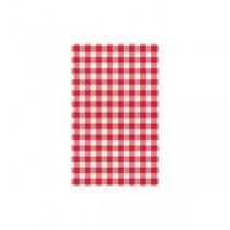 Grease Proof Paper Gingham Red Check 200 x 310mm (500)