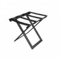JVD Steel Luggage Rack (Black Powder Coated) Leatherette Straps Foldable 4/Ctn
