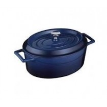 Image of Lava Cast Iron Casserole Oval 250mm Blue