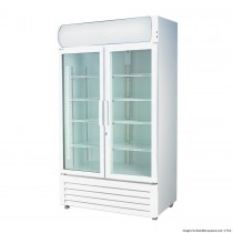 FED LG-1000GE Upright Fridge 2 Glass Doors